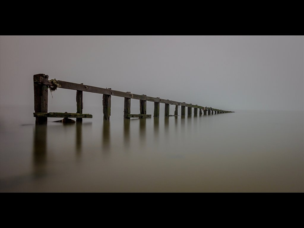 Sea groyne in fog (c) Charlie Gott [Commended]
