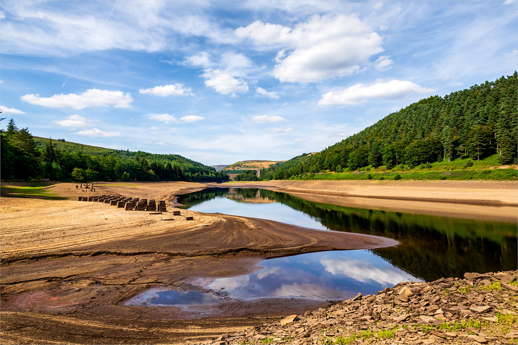 'Derwent Reservoir drought' Copyright (C) Ken McGrath 2019