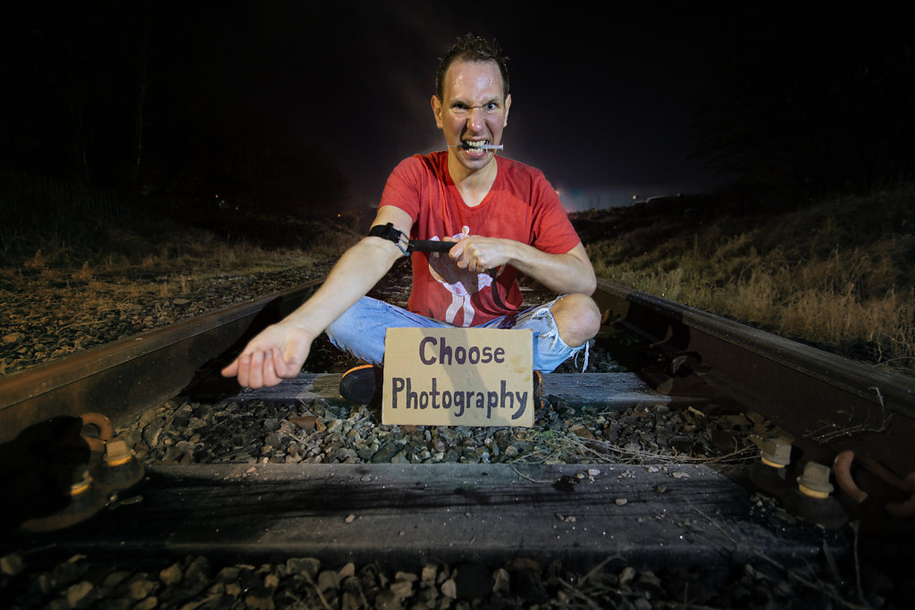 'Choose Photography, Trainspotting' Copyright (C) Chris Jones 2020